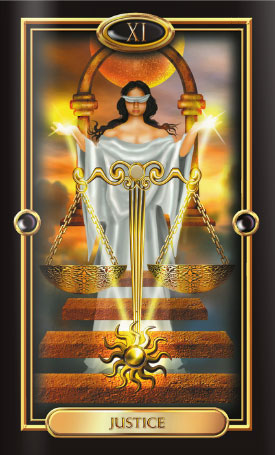 Gilded Tarot Justice