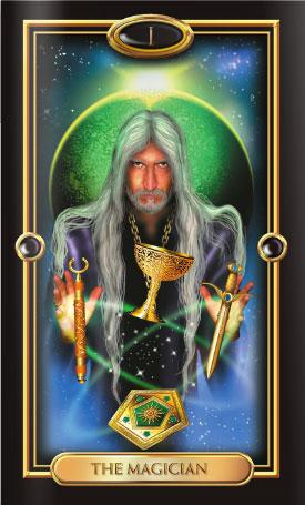 Gilded Tarot Magician