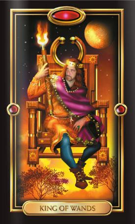 Gilded Tarot King of Wands