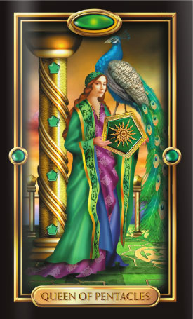 Gilded Tarot Queen of Pentacles