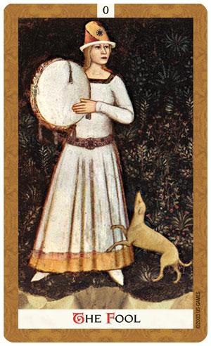 Golden Tarot Fool Card