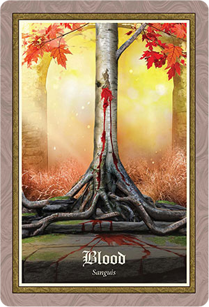 Gospel of Aradia Oracle Blood Card