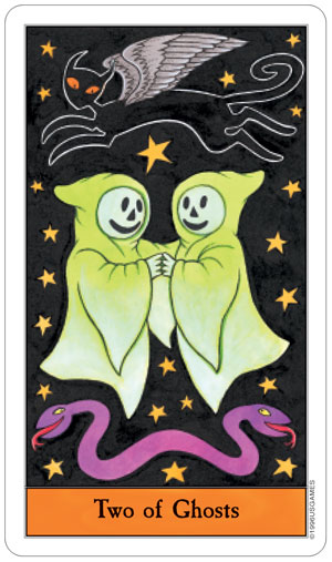 Halloween Tarot 2 of Ghosts (Cups)
