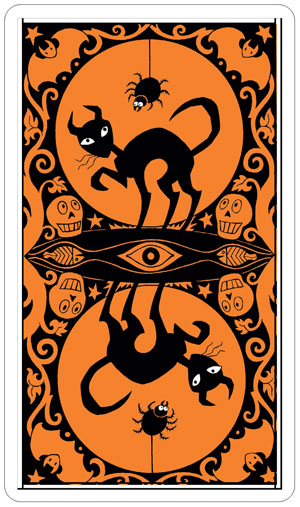 Halloween Tarot Back of Cards