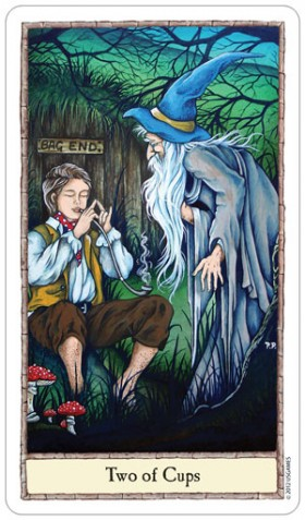 Hobbit Tarot 2 of Cups Card