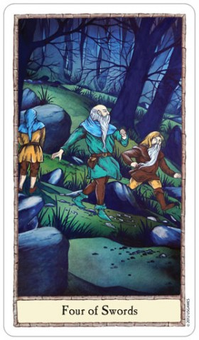 Hobbit Tarot 4 of Swords