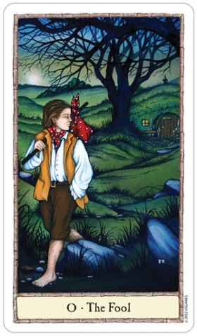 Hobbit Tarot Fool Card