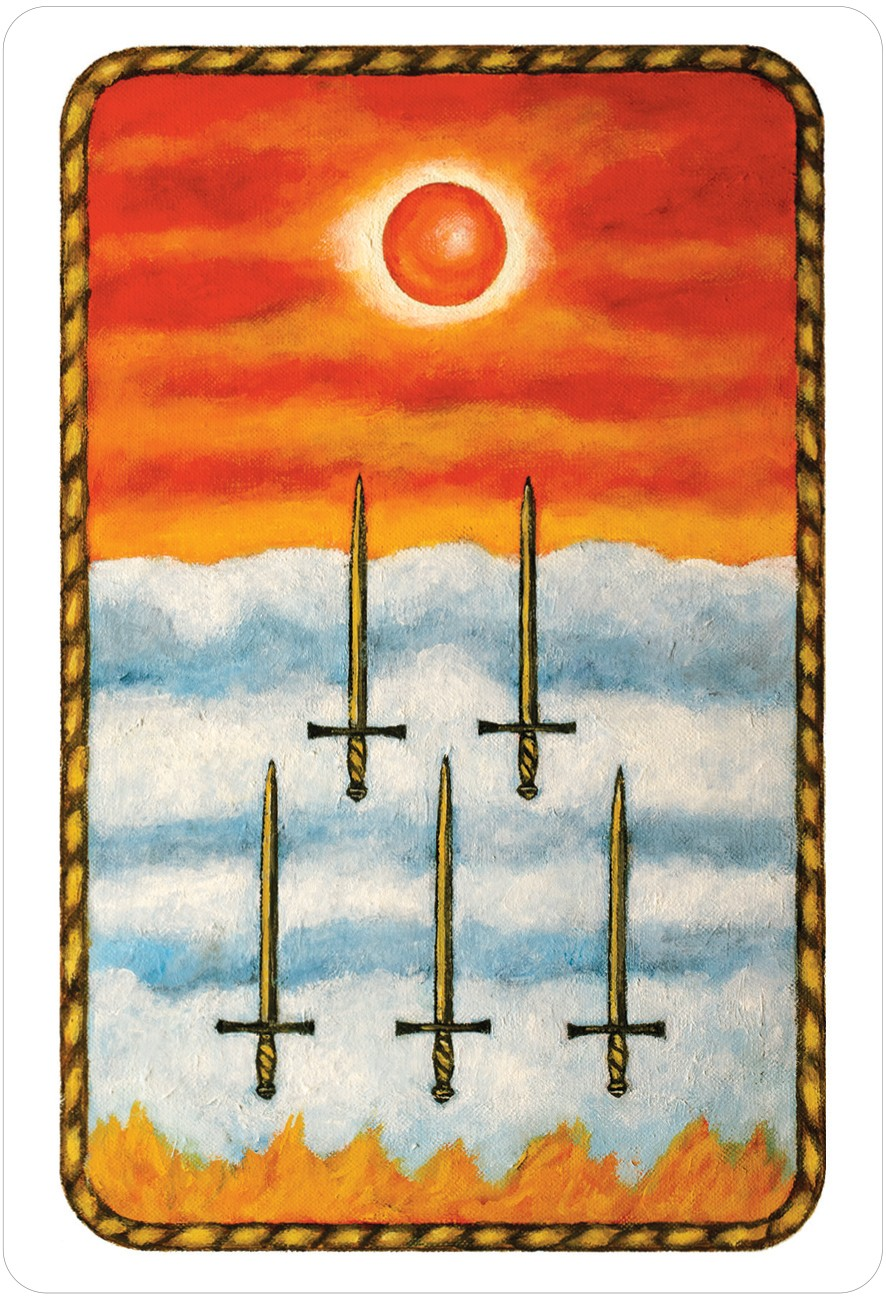 The Jungian Tarot Five of Swords Card