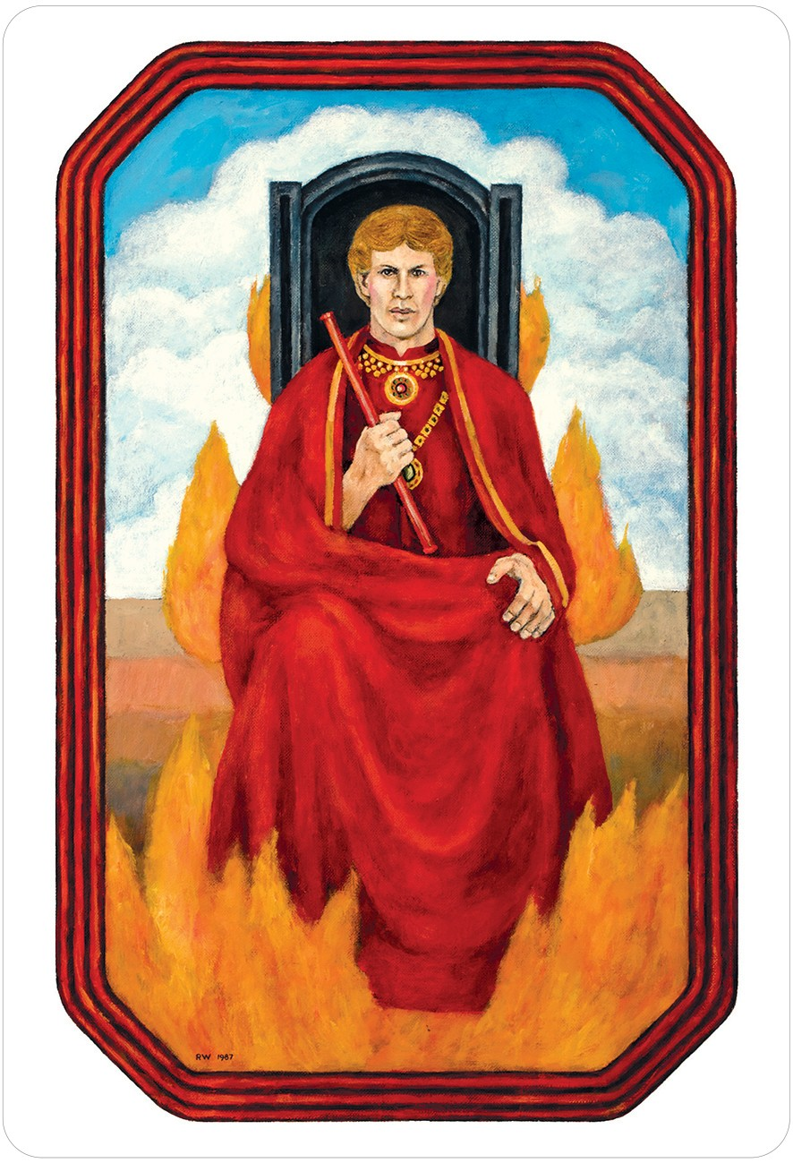 The Jungian Tarot King of Wands Card