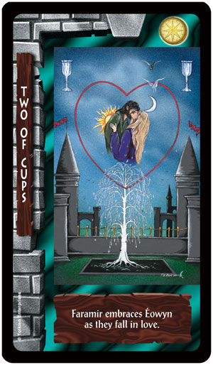 Lord of the Rings Tarot 2 of Cups Card