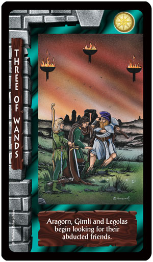 Lord of the Rings Tarot 3 of Wands