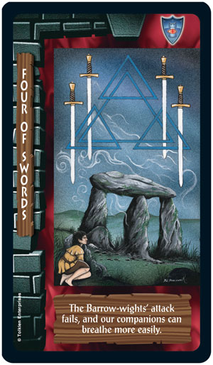 Lord of the Rings Tarot 4 of Swords