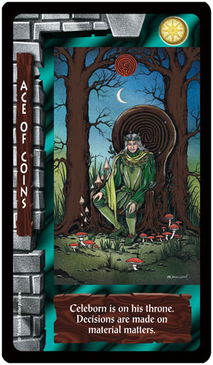 Lord of the Rings Tarot Ace of Coins Card