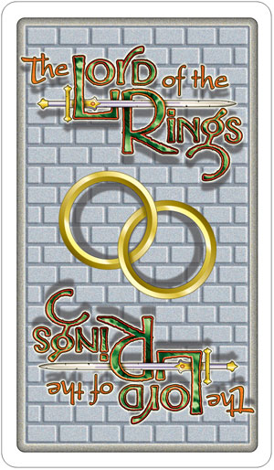 Lord of the Rings Tarot Card Backs