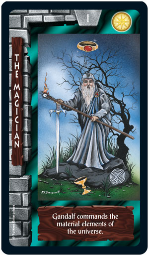 Lord of the Rings Tarot Magician Card