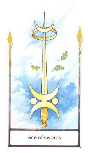 Tarot of the Old Path Ace of Swords Card