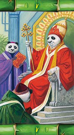 Panda Tarot Hierophant Card