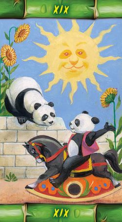 Panda Tarot Sun Card