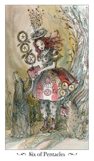 Paulina Tarot 6 of Pentacles