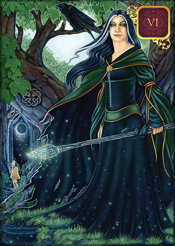 Dreams of Gaia Pocket Tarot Crone Card
