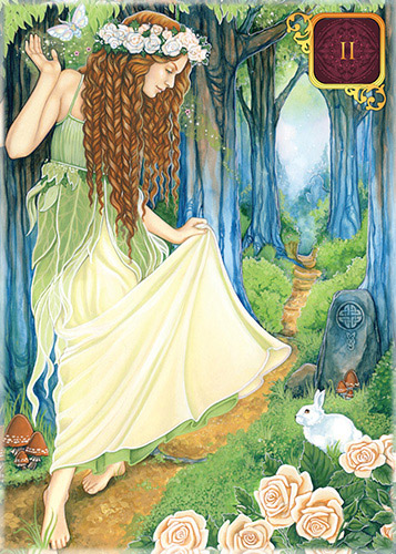 Dreams of Gaia Pocket Tarot Maiden Card