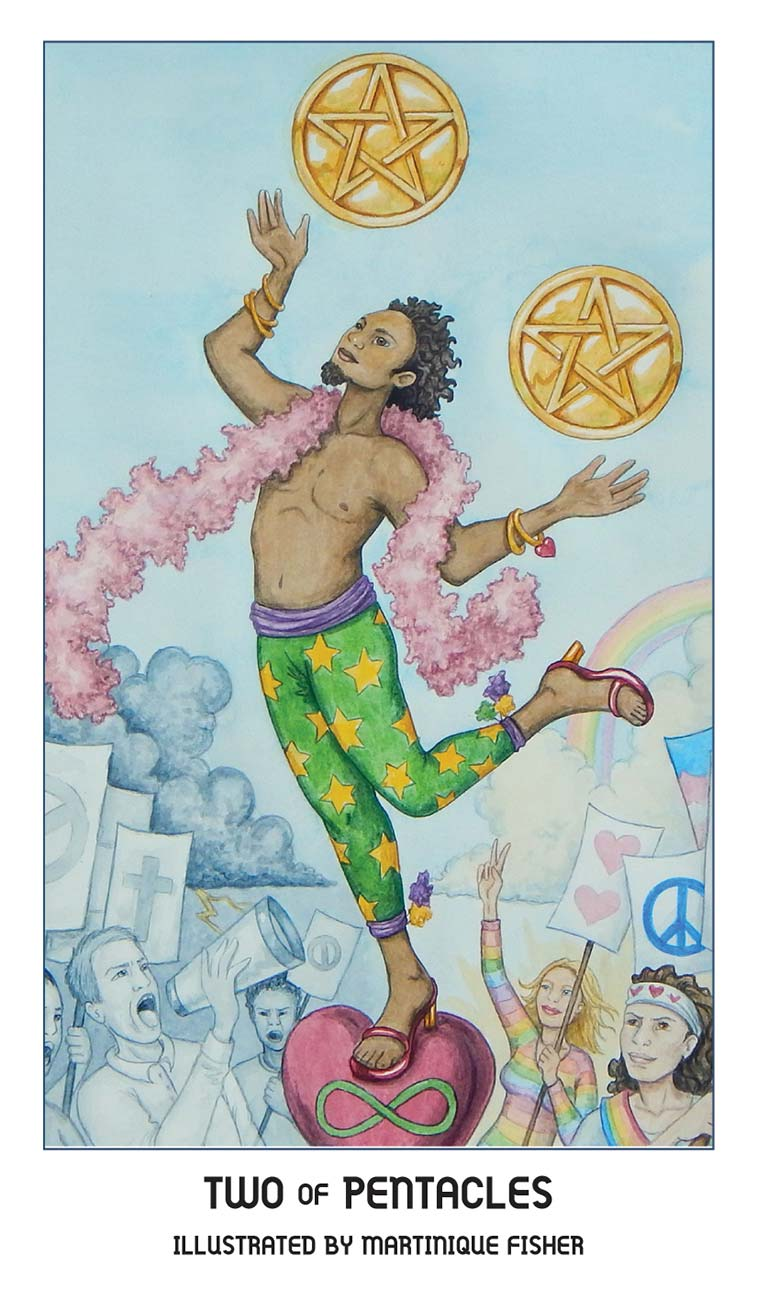 Pride Tarot Two of Pentacles Card