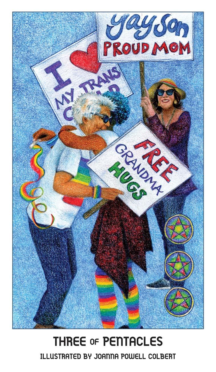 Pride Tarot Three of Pentacles Card