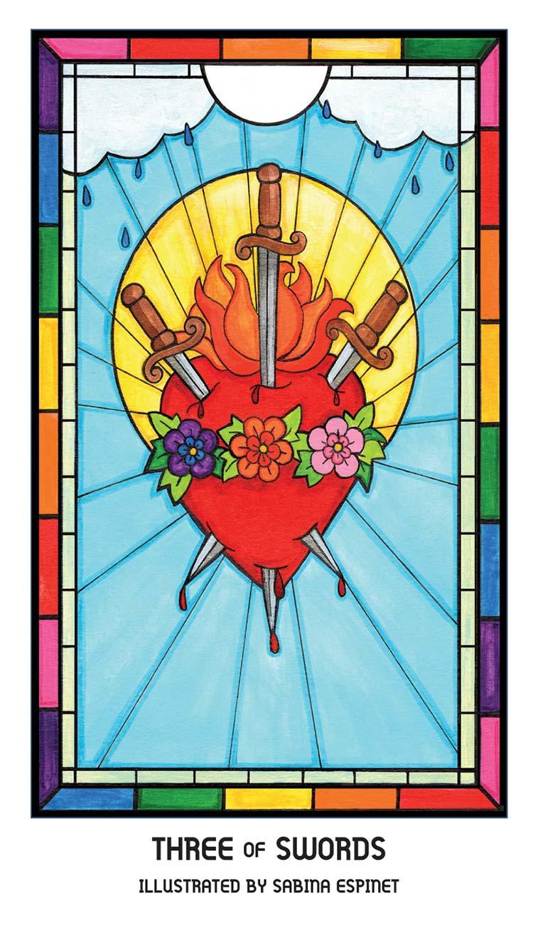 Pride Tarot Three of Swords Card