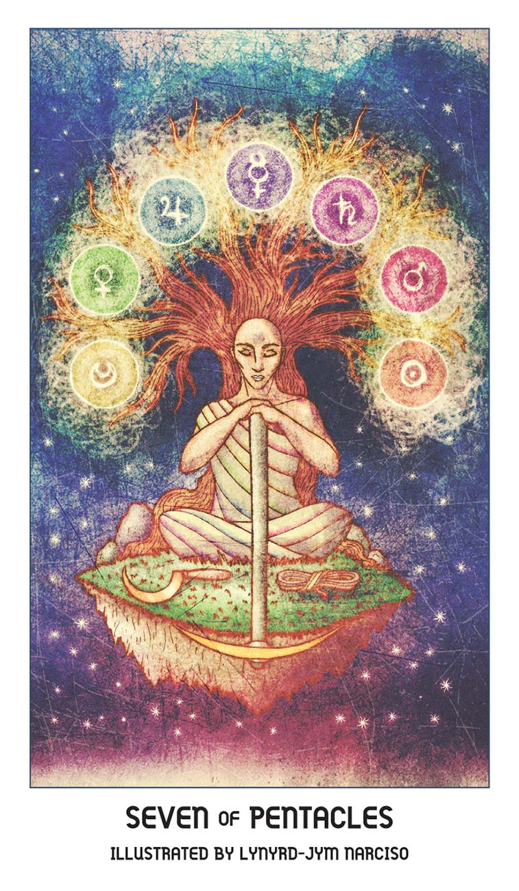 Pride Tarot Seven of Pentacles Card