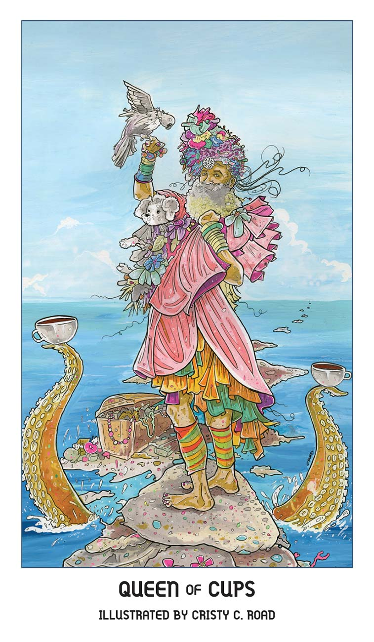 Pride Tarot Queen of Cups Card