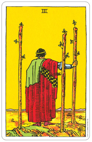 Rider Waite Pocket Tarot 3 of Wands