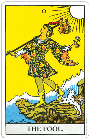 Rider Waite Pocket Tarot Fool Card