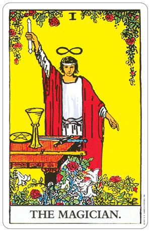 Rider Waite Pocket Tarot Magician Card