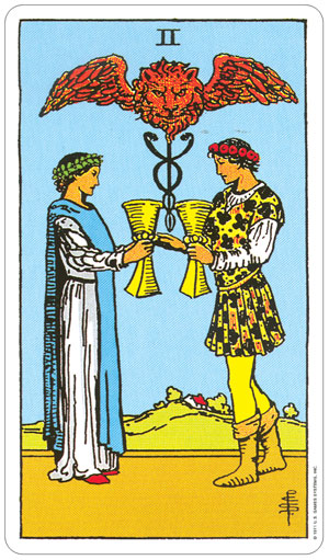 Rider Waite Tarot 2 of Cups