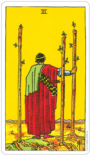 Rider Waite 3 of Wands