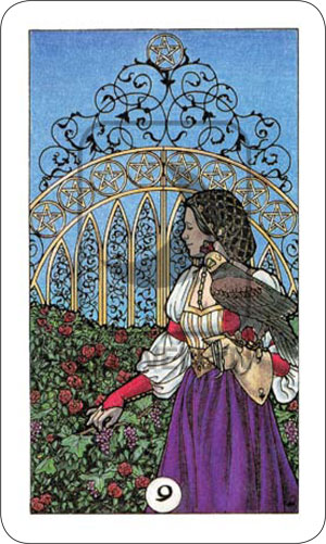 Robin Wood Tarot 9 of Pentacles