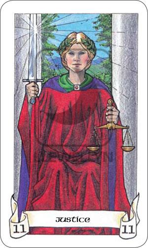 Robin Wood Tarot Justice