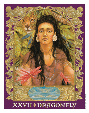 Sacred World Oracle Dragonfly Card