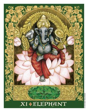 Sacred World Oracle Elephant Card
