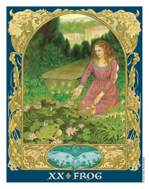 Sacred World Oracle Frog Card