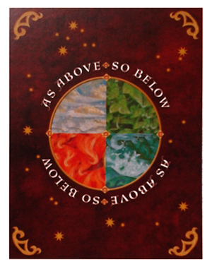 Sacred World Oracle Card Backs