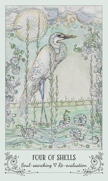 Spiritsong Tarot 4 of Shells Card