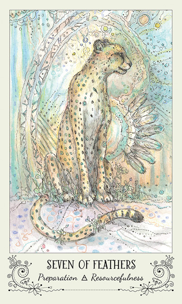 Spiritsong Tarot Seven of Feathers