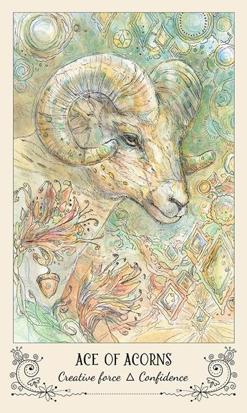 Spiritsong Tarot Ace of Acorns Card