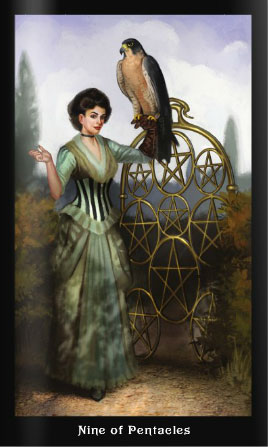 Steampunk Tarot 9 of Pentacles