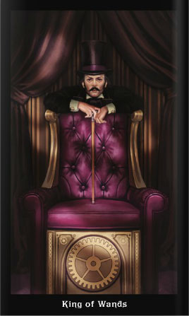 Steampunk Tarot King of Wands