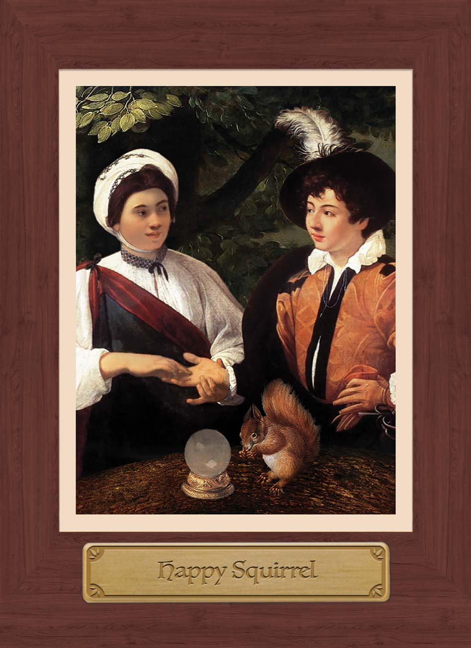 Touchstone Tarot Happy Squirrel Card