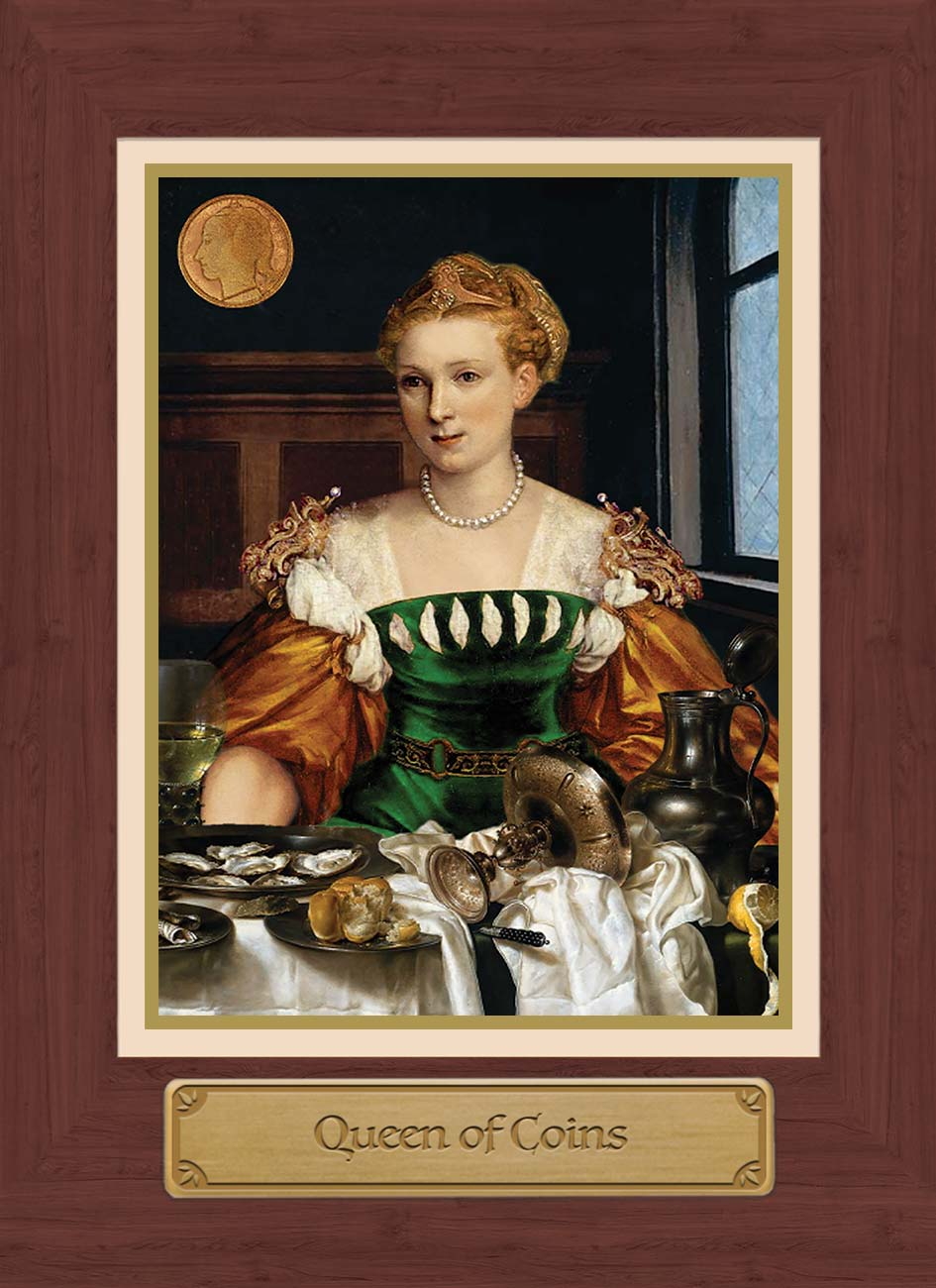 Touchstone Tarot Queen of Coins