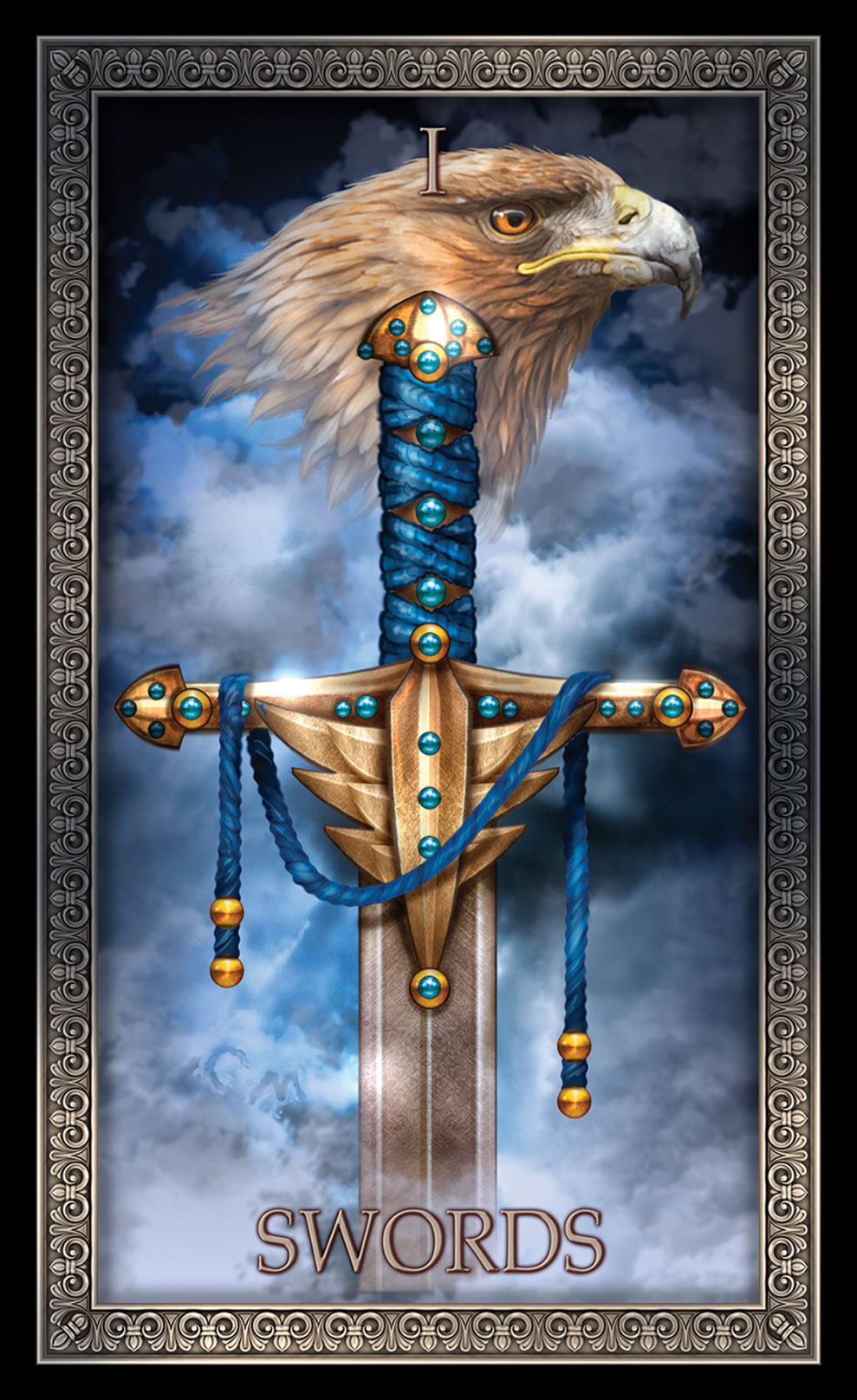 Tarot Grande Luxe Ace of Swords Card