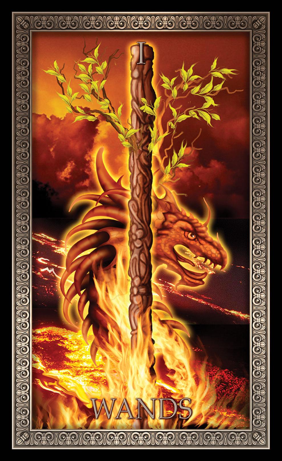 Tarot Grande Luxe Ace of Wands Card